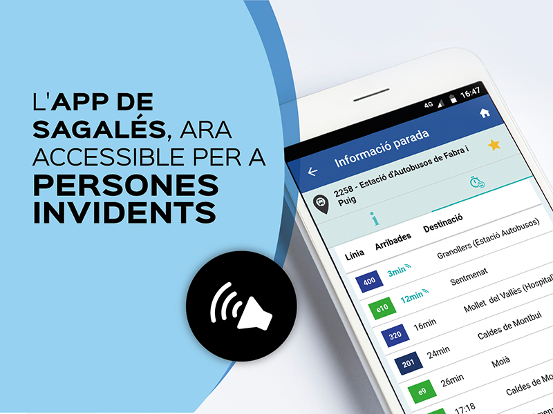 L'APP DE SAGALÉS, ARA ACCESSIBLE PER A PERSONES INVIDENTS