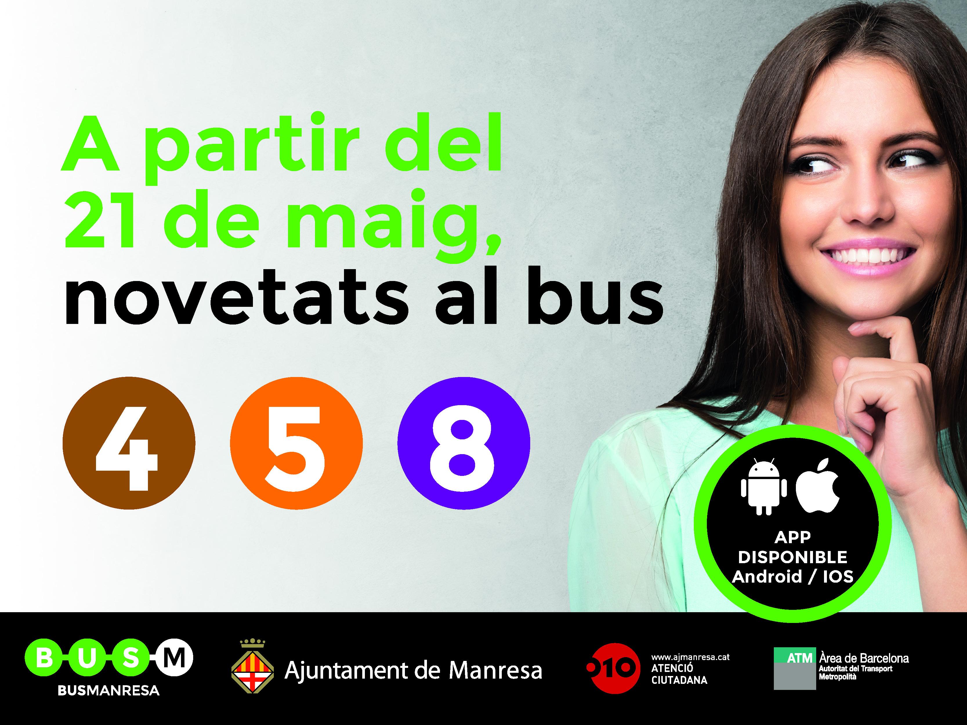 NOVETATS AL SERVEI DE MANRESA BUS